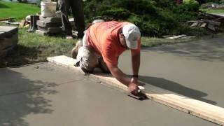getlinkyoutube.com-How to Pour Concrete Driveway