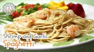 getlinkyoutube.com-Shrimp and Garlic Spaghetti