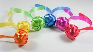 getlinkyoutube.com-วิธีพับเหรียญโปรยทานลูกยาง ง๊าย..ง่าย - 108 Ribbon