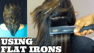 getlinkyoutube.com-How to Use a Flat Iron to Curl Hair  Medium Layered Feathered Hairstyle