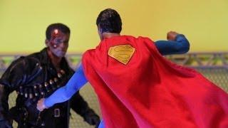 getlinkyoutube.com-Superman VS Terminator Stop Motion ( Fan Film ) ( Hot Toys ) *HD*