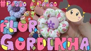 getlinkyoutube.com-Flor Gordinha - Flor de Fuxico - Passo a Passo com Priscila Cunha
