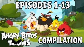 Angry Birds Toons Compilation | Season 1 Mashup | Ep1 13