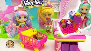 getlinkyoutube.com-Shoppies Dolls Go Shopping at Small Mart for Season 6 Chef Club Shopkins 12 + 5 Pack
