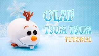 getlinkyoutube.com-DIY Disney Frozen Olaf Tsum Tsum Plushie - Free pattern!