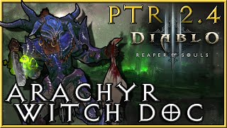 getlinkyoutube.com-Diablo 3 - 2.4 PTR : Arachyr Angry Chicken Witch Doctor Build