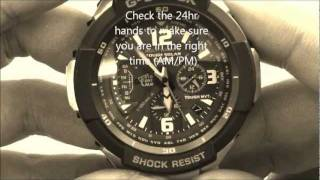 getlinkyoutube.com-Casio G-Shock GW-3000 Time Zone Changing