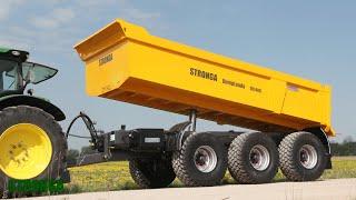Stronga DumpLoada 1200 trailer - An alternative solution to Articulated Dump Trucks (ADTs)
