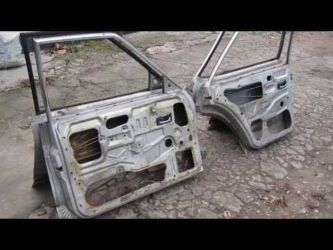 Ремонт автомобиля. Ford Granada. [Часть 10] Разборка дверей.