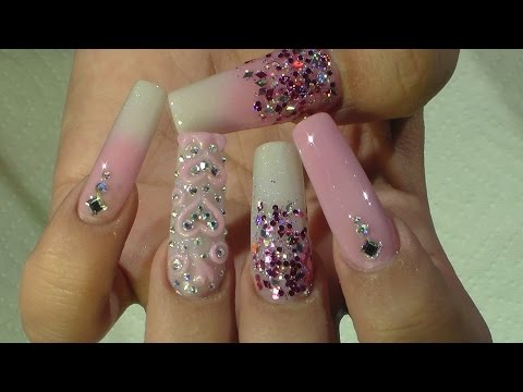 San Valentin Nail Design - Natos Nails - Uñas Acrilicas