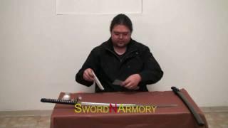 getlinkyoutube.com-Handmade Samurai Katana Sword Cleaning Tutorial