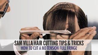 getlinkyoutube.com-How To Cut A No Tension Full Fringe   Zoey Deschanel Bangs Tutorial
