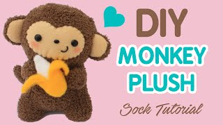 getlinkyoutube.com-DIY Sock Plush Tutorial | Cute Monkey Holding a Banana