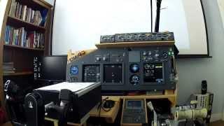 getlinkyoutube.com-FSX P3D 737 homemade flight sim cockpit v2 - departure - part 1