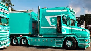 getlinkyoutube.com-Scania T530 V8 Longline - C.VERBIST & SON