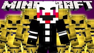 Minecraft Mods : LUCKY BLOCK BOSS CHALLENGE - Golden Freddy & The Puppet!