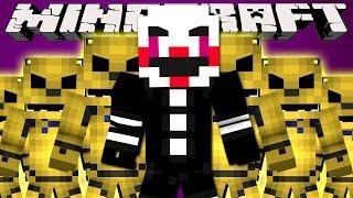 getlinkyoutube.com-Minecraft Mods : LUCKY BLOCK BOSS CHALLENGE - Golden Freddy & The Puppet!
