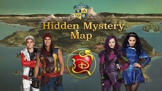 getlinkyoutube.com-Disney's Descendants: Hidden Mystery Map (Search & Find Gameplay)