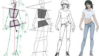 getlinkyoutube.com-como dibujar la figura femenina con una postura