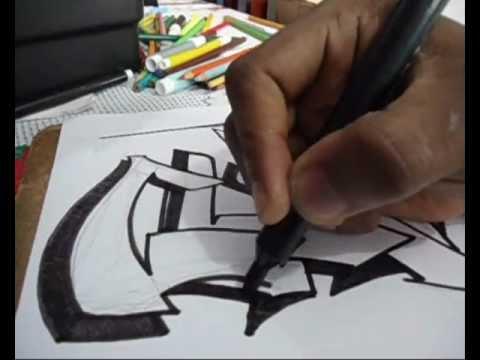 Vídeo Aula com Gene do Grafite 105 - Tutorial Letra Graffiti