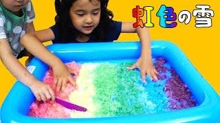 getlinkyoutube.com-真夏の雪遊び!!【GellSnow】で遊んだよ☆絵の具で虹色の雪も作ったよ♪おもちゃ himawari-CH