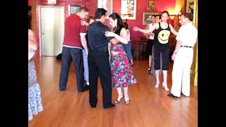 getlinkyoutube.com-Dancing The Argentine Tango - Vals lesson Steps - Oscar Mandagaran & Georgina Vargas