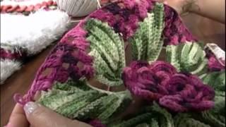 getlinkyoutube.com-MULHER.COM 17/10/2012 MARIA JOSE - TAPETE REDONDO FLORAL 02