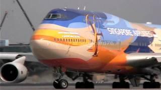 getlinkyoutube.com-Singapore Airlines ill fated 747-412 9V-SPK at Singapore & LAX