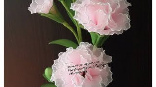 getlinkyoutube.com-How to stockingflower (Carnation) by ployandpoom (ผ้าใยบัว)