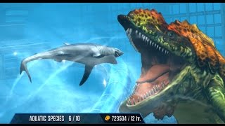getlinkyoutube.com-prognathodon Maxed - Jurassic World - New Aqua Creature
