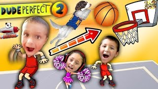 getlinkyoutube.com-Kids Make Impossible Basketball Shot!  DUDE PERFECT 2!  (FGTEEV Gameplay / Skit)