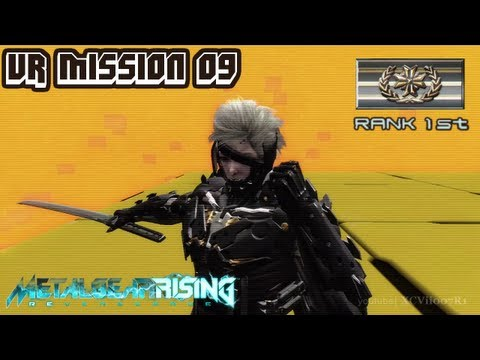 Metal Gear Rising: Revengeance - VR Mission 09 - Rank 1st (Gold) - Time: 00:19.45