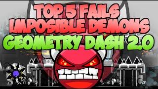 getlinkyoutube.com-PARTE 3 | TOP 5 FAILS EN LOS DEMON MÁS IMPOSIBLES GEOMETRY DASH / HARDEST DEMONS