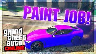 getlinkyoutube.com-GTA 5 Paint Jobs: Fluorescent Purple Paint Job Online! (GTA 5 Rare & Secret Paint Jobs)