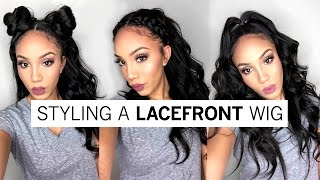 getlinkyoutube.com-3 Ways to Style A Full Lace Wig | Holiday Hairstyles ft WowAfrican