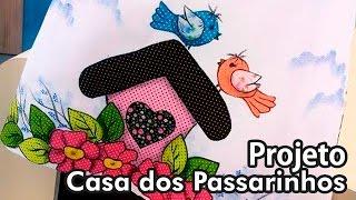 getlinkyoutube.com-Ateliê na TV - Márcia Caires - Pano de prato, Casinha de Passarinho