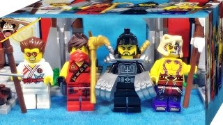 getlinkyoutube.com-레고 닌자고 카이,슬레븐,그리핀 터너,칼로프 토너먼트 아레나 70756 미니피규어 리뷰 Lego Ninjago Dojo Showdown