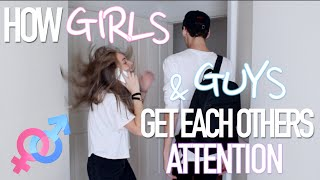 getlinkyoutube.com-How Girls & Guys Get Each Others Attention (w/ JENNXPENN)