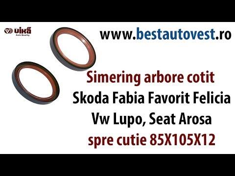 Simering arbore cotit Skoda Fabia Favorit Felicia, Vw Lupo, Seat Arosa, spre cutie 85X105X12