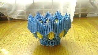 getlinkyoutube.com-3D Origami Egg Stand Tutorial