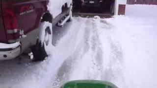 getlinkyoutube.com-Lawn mower snow removal