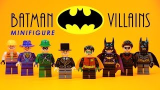 getlinkyoutube.com-LEGO Batman Heroes vs Villains KnockOff Minifigures w/ Robin Batgirl Nightwing & Joker