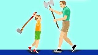 ULTIMATE DAD vs. SON BATTLE! (Happy Wheels)