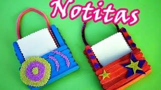 getlinkyoutube.com-Manualidades con palitos: Porta-notitas Cute  ♥♥♥