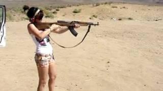 getlinkyoutube.com-Shotgun Recoil on Nikki plus SKS and Glock