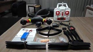 getlinkyoutube.com-Syma X8W - Unboxing e Detalhes do Quadricóptero / Drone FPV (Português + English Subs)