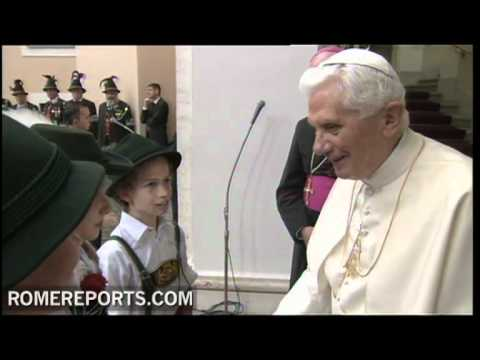 The pope receives the gift of music at  Castel Gandolfo