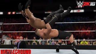 getlinkyoutube.com-WWE 2K16 Battleground 2015 Epic Moment: Undertaker Returns & Attacks Brock Lesnar (Rollins v Lesnar)