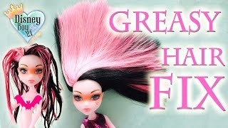 getlinkyoutube.com-How to Fix / Wash Greasy Sticky Doll Hair Tutorial - Monster High, Ever After High, Barbie