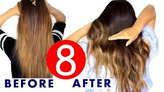 getlinkyoutube.com-★ 8 Easy HAIR Color & OMBRE HACKS | SUMMER HAIRSTYLES
